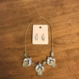 David's Bridal Necklace and Earring Set